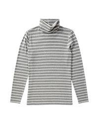 Joe Fresh - Gray Stripe Light Turtleneck - Lyst