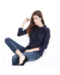Joe Fresh - Blue Sequin Cable Knit Sweater - Lyst