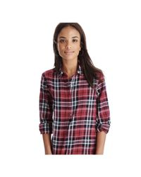 Joe Fresh - Red Plaid Sparkle Popover - Lyst
