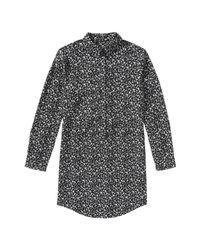 Joe Fresh - Black Floral Shirt Dress - Lyst