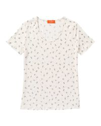 Joe Fresh - White Print Linen Tee - Lyst