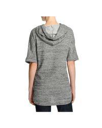 Joe Fresh - Gray Space Dye Short Sleeve Hoodie - Lyst