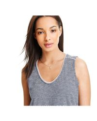 Joe Fresh - Blue V-neck Tank - Lyst