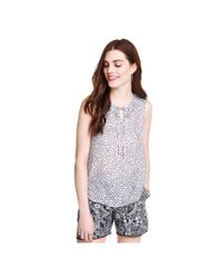 Joe Fresh | White Paisley Silk Tank | Lyst