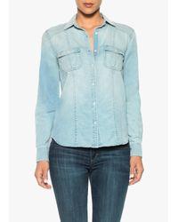 Joe's Jeans   Blue Leigh Shirt   Lyst