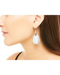 John Hardy - Classic Chain Hammered Small Drop Earring, Blue Sapphire - Lyst