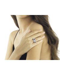 John Hardy - Metallic Naga Ring With Black Sapphire - Lyst