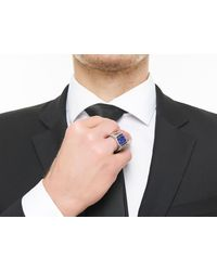 John Hardy   Multicolor Classic Chain Signet Ring With Lapis for Men   Lyst