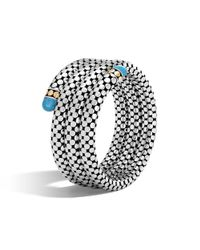 John Hardy - Multicolor Triple Coil Bracelet With Turquoise - Lyst