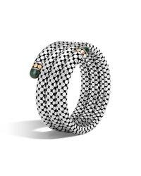 John Hardy - Black Triple Coil Bracelet With Malachite - Lyst
