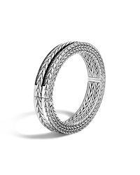 John Hardy | Modern Chain Hinged Bangle With Black Sapphire | Lyst