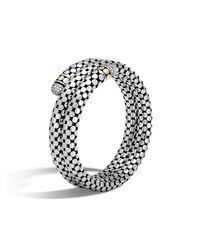 John Hardy - White Double Coil Bracelet With Diamonds - Lyst