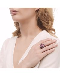 John Hardy - Pink Cobra Ring With Indian Ruby And Diamonds - Lyst