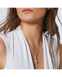 John Hardy - Metallic Classic Chain Hammered Drop Necklace - Lyst