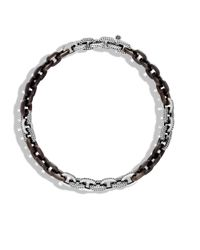 John Hardy - Brown Link Necklace With Ebony Wood - Lyst