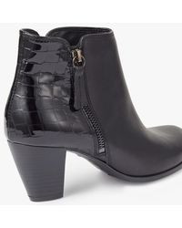 John Lewis - Black Petra Block Heeled Ankle Boots - Lyst