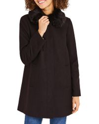 Oasis | Black Swing Princess Coat | Lyst