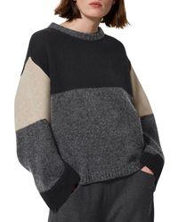 Toast - Gray Kimono Colour Block Jumper - Lyst