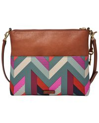 Fossil - Multicolor Fiona Printed Medium Crossbody - Lyst