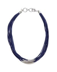 John Lewis - Metallic Multi Row Cord Necklace - Lyst