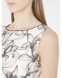 Reiss - White Onyx Peplum Hem Dress - Lyst