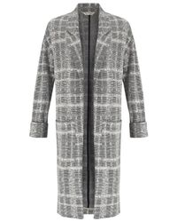 Miss Selfridge - Gray Longline Duster Coat - Lyst