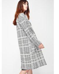 Miss Selfridge - Gray Longline Duster Coat - Lyst
