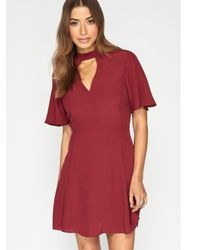 Miss Selfridge - Red Tea Dress - Lyst