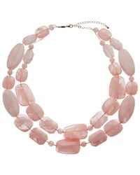 John Lewis - Pink Beaded Double Layer Necklace - Lyst