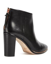 Ted Baker - Black Lorca Block Heeled Ankle Boots - Lyst