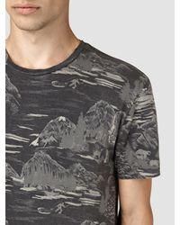 AllSaints - Gray Canada Print T-shirt for Men - Lyst