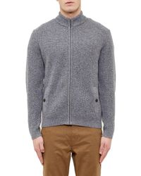 Ted Baker | Gray Akela Funnel Neck Cardigan for Men | Lyst
