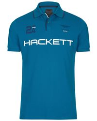 Hackett | Blue Aston Martin Racing 24hr Polo Shirt for Men | Lyst