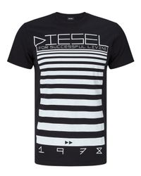 DIESEL | Black T-diego-od 'for Successful Living' T-shirt for Men | Lyst