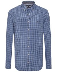 Tommy Hilfiger | Blue Fred Check Cotton Shirt for Men | Lyst