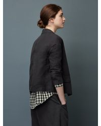 Toast - Black Cotton Twill Jacket - Lyst