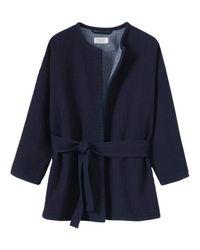 Toast - Blue Matelasse Jacket - Lyst