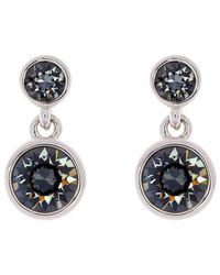 Karen Millen - Metallic Swarovski Crystal Dot Drop Earrings - Lyst