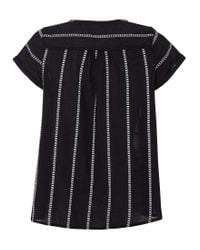 White Stuff - Black Nova Stripe Top - Lyst