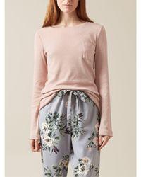 Hobbs - Pink Pointelle Pyjama Top - Lyst