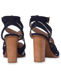 83d0d4a84a34 Whistles Ivor Crossover Block Heeled Sandals in Blue - Lyst