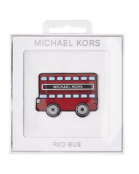 MICHAEL Michael Kors | White Red Bus Leather Sticker | Lyst
