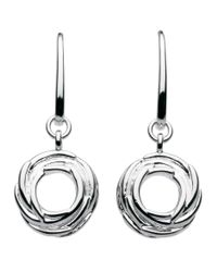 Kit Heath - Metallic Sterling Silver Nest Drop Earrings - Lyst