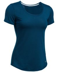 Under Armour - Blue Threadborne Streaker Short Sleeve Running T-shirt - Lyst