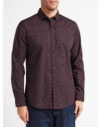 John Lewis - Purple Geo Print Party Shirt for Men - Lyst