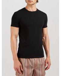 Paul Smith   Black Cotton Crew Neck Lounge T-shirt for Men   Lyst