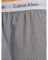 Calvin Klein - Gray Woven Boxer Shorts for Men - Lyst