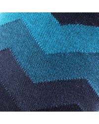 John Lewis | Blue Chevron Socks for Men | Lyst