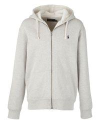 Polo Ralph Lauren | Gray Full Zip Cotton Hoodie for Men | Lyst