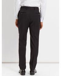Jaeger - Wool Black Slim Trousers for Men - Lyst